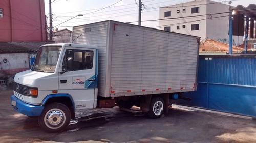 caminhão baú mercedes benz 709 ano 1991
