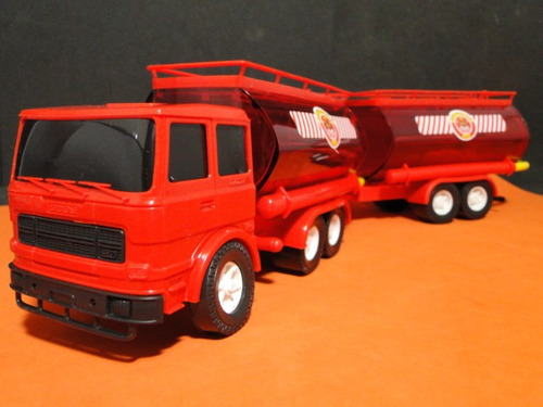 caminhão bi-trem bombeiros comp=45cm larg=08cm alt=11cm