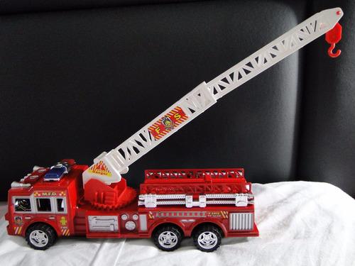 caminhão  bombeiro 03 eixo trucado escada magirus articulada
