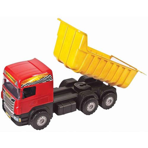 caminhão caçamba infantil grande magic toys