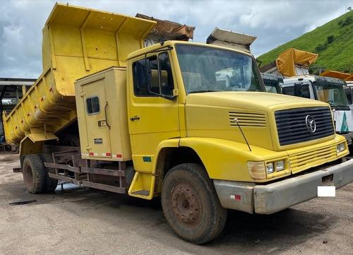 caminhão caçamba mercedes benz 1414 ano 1989, com cabine aux