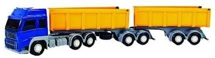 caminhão carreta bitrem caçamba graneleiro 7 eixos comp61cm