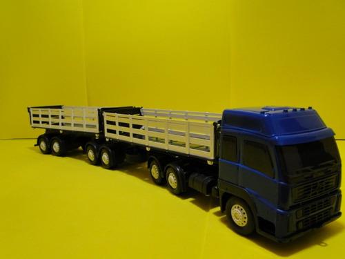 caminhão carreta brinquedo 07 eixos graneleiro bitrem volvo