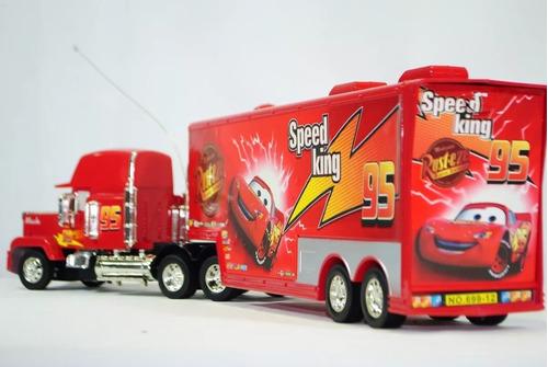 caminhão carreta mack e amigos 10 carrinhos controle remoto
