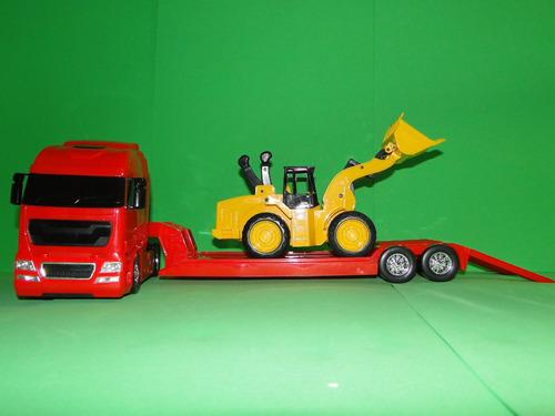caminhão carreta prancha & trator comp62cm larg10cm alt17cm