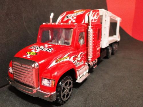 caminhão cegonha 04 eixos  comp=38cm larg=08cm alt=10cm
