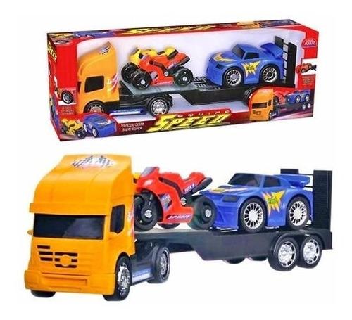 caminhão cegonha miniatura brinquedo original - frete grátis