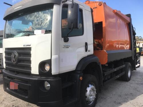 caminhão compactador de lixo 17280  volksvaguen