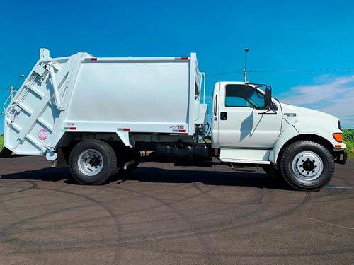 caminhão compactador de lixo - impecável !!!