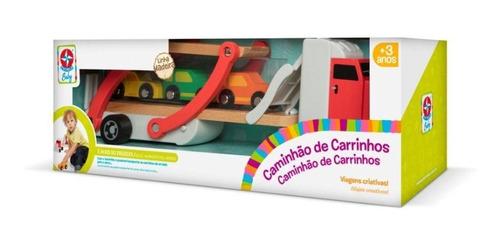 caminhão de carrinhos estrela baby madeira - 801674