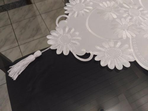 caminho de mesa de guipir branco