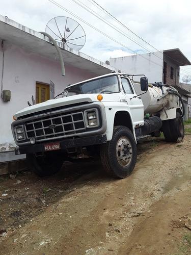 caminhão ford 11000 mwm com tanque pipa branco 1990