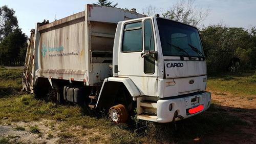 caminhão ford cargo 1617 com compactador de lixo ano 2001