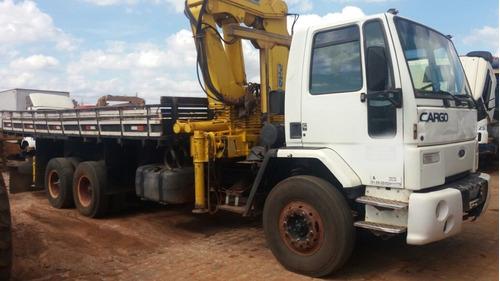 caminhão ford cargo 1621 ano 2002 com munck phd35000