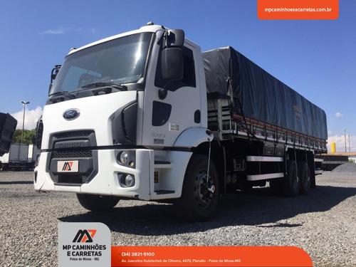 caminhão ford cargo 2423 6x2 carroceria graneleiro 2013