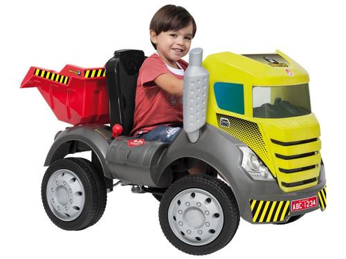 caminhão infantil pedal menino caçamba truck bandeirante