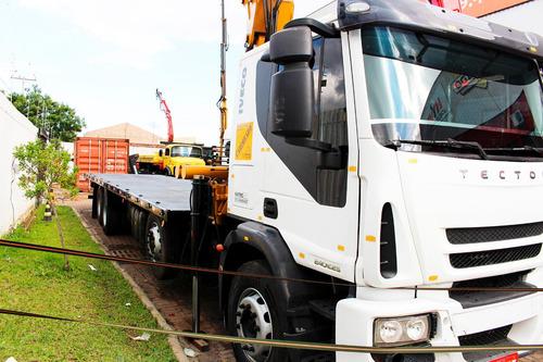 caminhão iveco 240e25 8x2 ano 12 munck masal 44.000 4h/3m