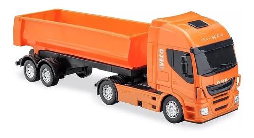 caminhão iveco caçamba basculante -usual brinquedo ver video