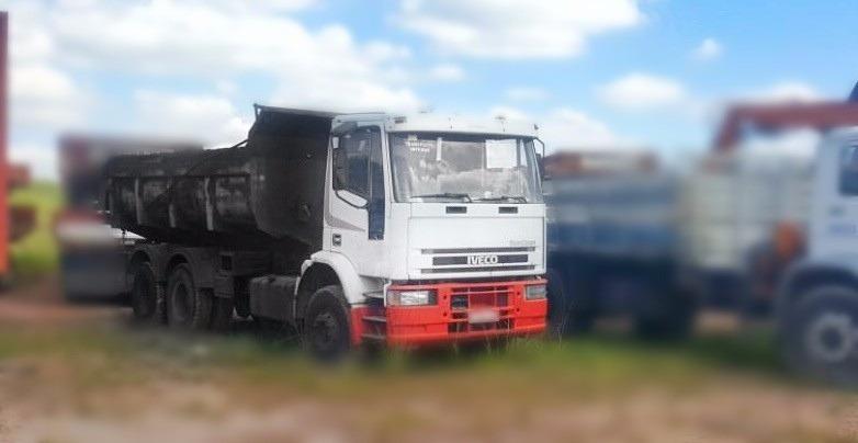 caminhão iveco fiat 160e21 6x2  ano 2000 - caçamba