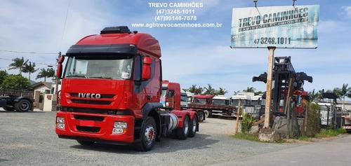 caminhão iveco stralis 420 - teto alto - 6x2