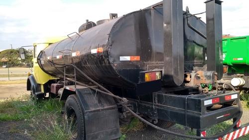 caminhão mb 1113 4x2 c/ espargidor de asfalto c/ caneta 1980
