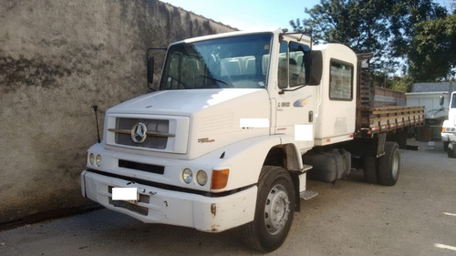 caminhão mb 1318 carroceria com cabine auxiliar com serviço