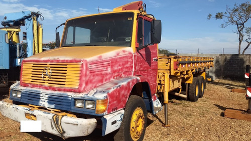 caminhão mb - truck, modelo 1418, com munck masal