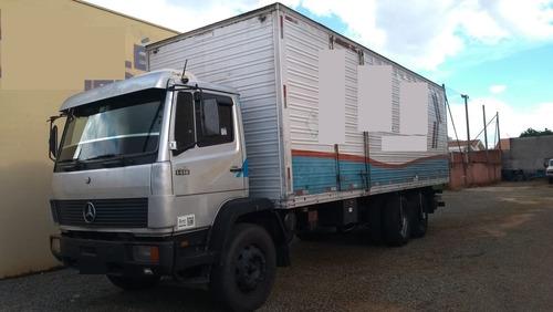 caminhão mb1418 -1992 c/ baú comp.8,50mts marca iderol