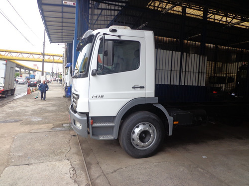 caminhão m.benz atego 1418 2008/08 toco chassis novo