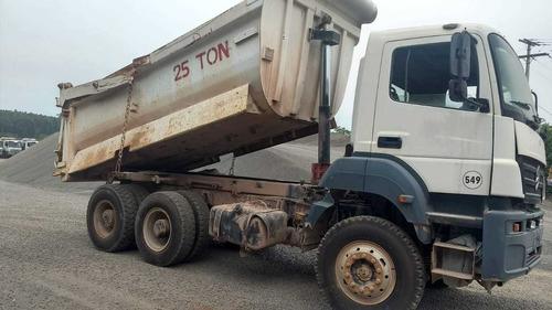 caminhão mercedes axor 3344 caçamba basculante