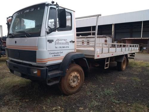 caminhão mercedes-bens modelo 1214 - ano 1995 - branco