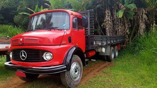 caminhão mercedes benz 1113 turbo truck com carroceria