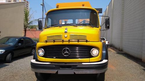 caminhão mercedes benz 1313 ano 1981 c/ munck ano 2001