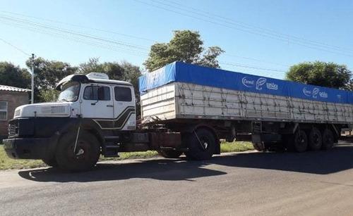 caminhão mercedes-benz, ano 1987 e volkswagen, ano 2000