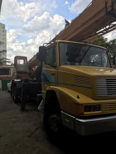 caminhão mercedes benz   guindaste madal md250,