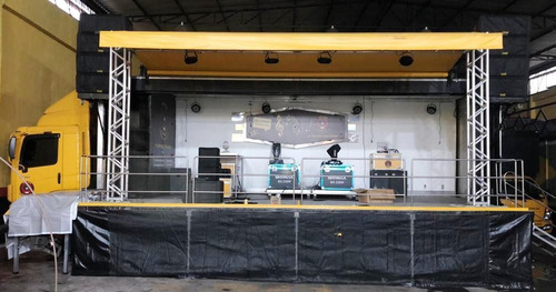 caminhão palco base móvel propagandas eventos e shows