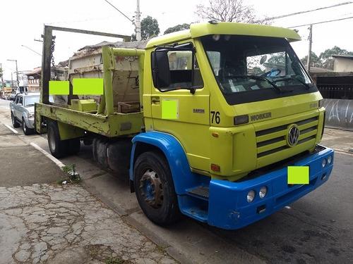 caminhão poli duplo  volks 17180 ano 2008 - motor mwm red.