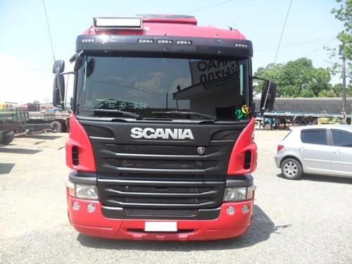 caminhão scania p310 bitruck carroceria de madeira 2013