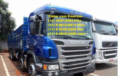 caminhão scania p310 bitruck carroceria ou baú