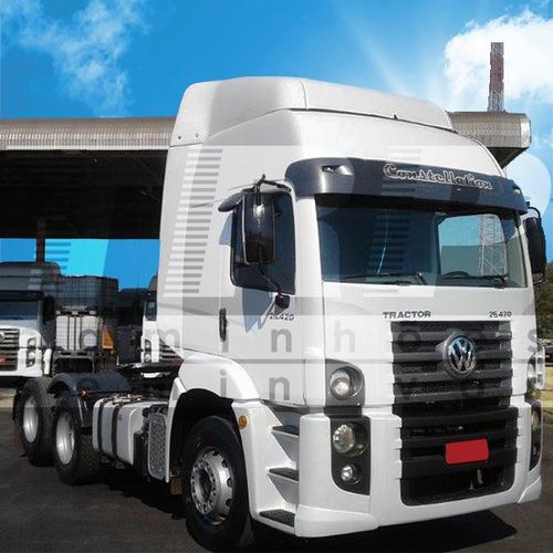 caminhão seminovo vw 25.420 ctc - baixa quilometragem