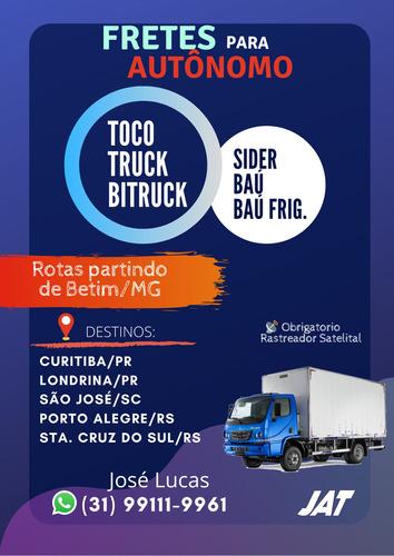 caminhão toco, truck e bitruck