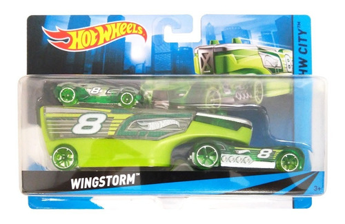 caminhão transportador hot wheels - wingstorm - mattel