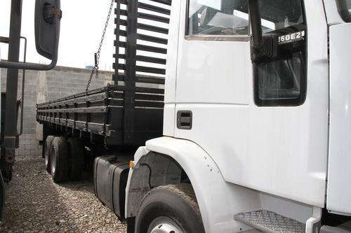 caminhão trucado iveco 160e21 carroceria madeira