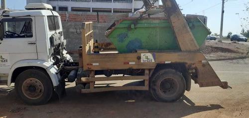 caminhão vw 12 140 com poliguindaste