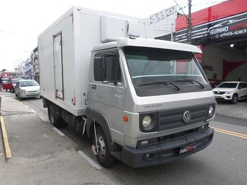 caminhão vw 8.160 c/ baú refrigerado 2013