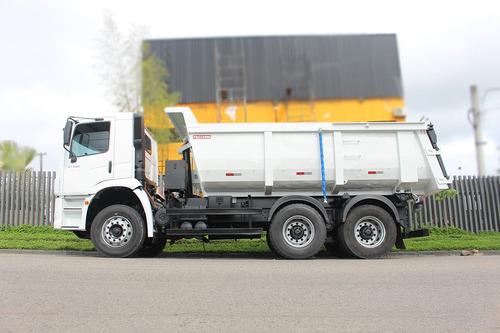 caminhão vw volks 31320 2011 6x4 caçamba meia cana 14m
