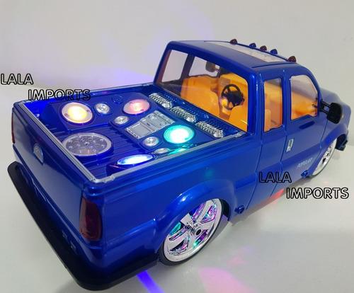 caminhonete recarregável f250 controle tuning som luz, cores