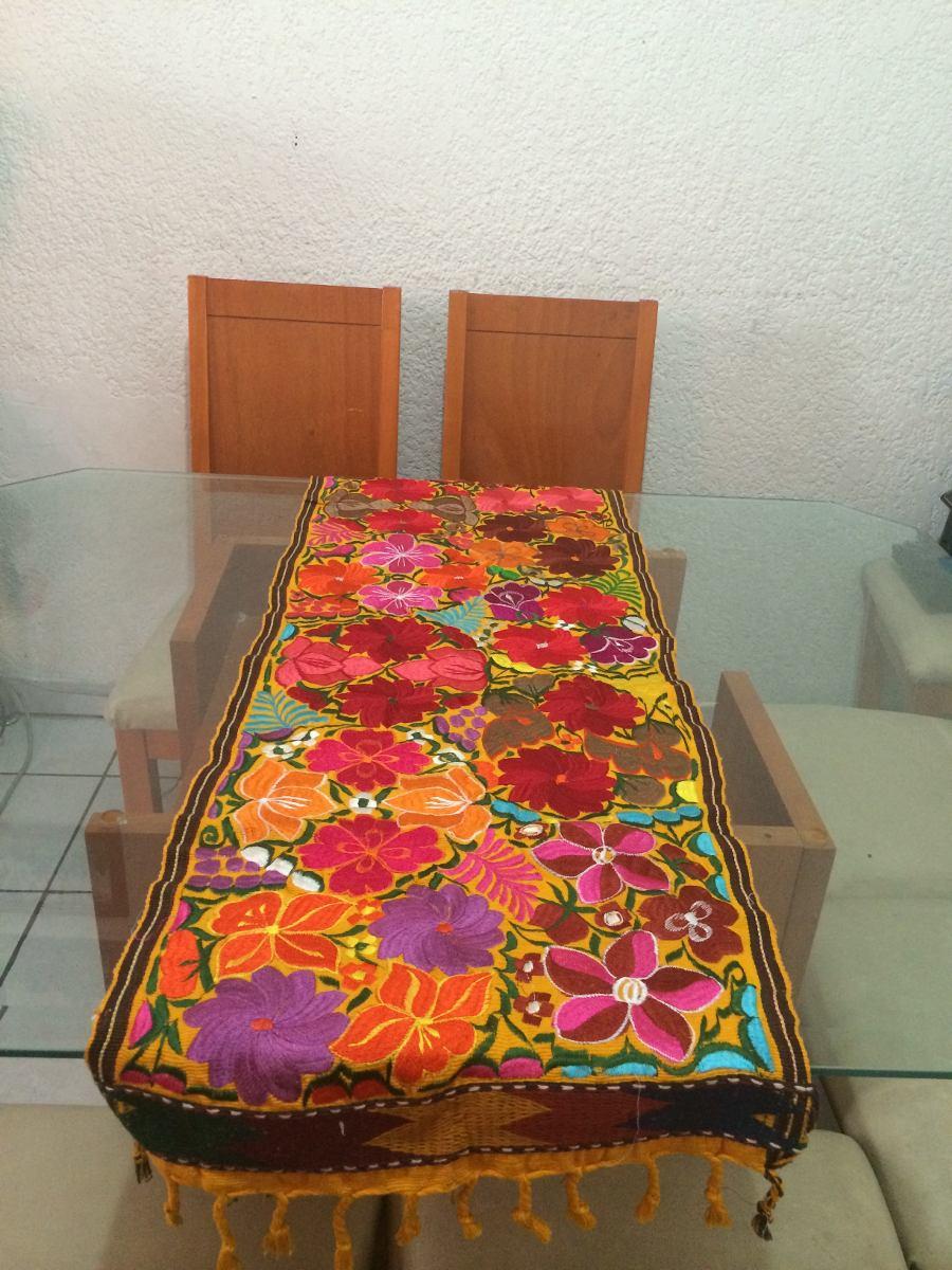 camino de mesa artesanal oaxaqueo camino bordado colorido cargando zoom - Caminos De Mesa