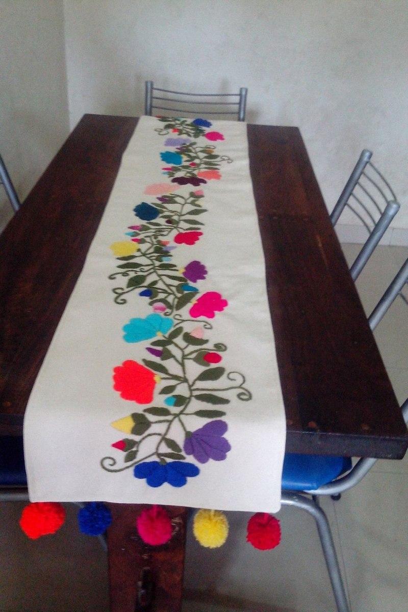 camino de mesa bordado mexicano cargando zoom - Caminos De Mesa