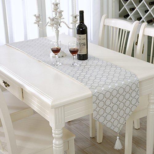 Camino de mesa moderno cl sico con puntos para boda y for Caminos para mesas